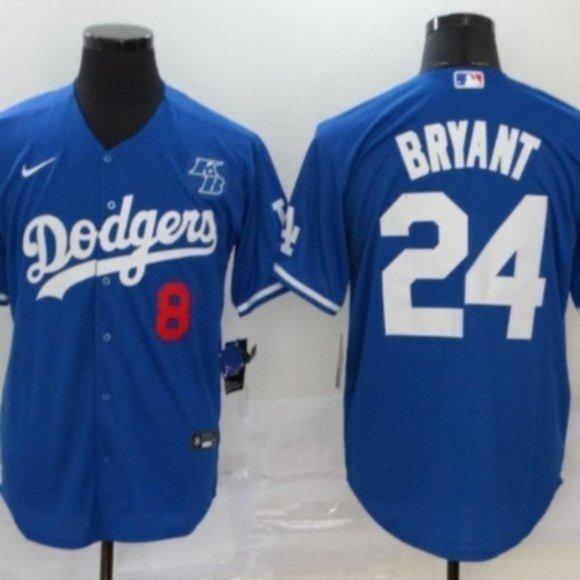 MLB Shirts   Nwt La Dodgers Kobe Bryant 8 24 Blue Jersey   Poshmark